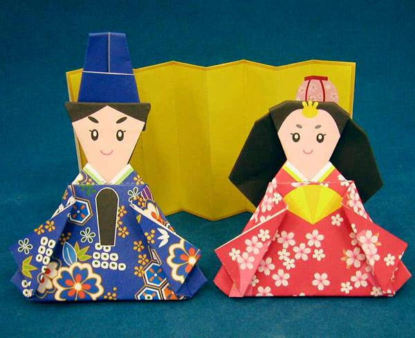 すべての折り紙 雛人形 折り紙 簡単 : おりがみ ひな人形 || 通販 ...